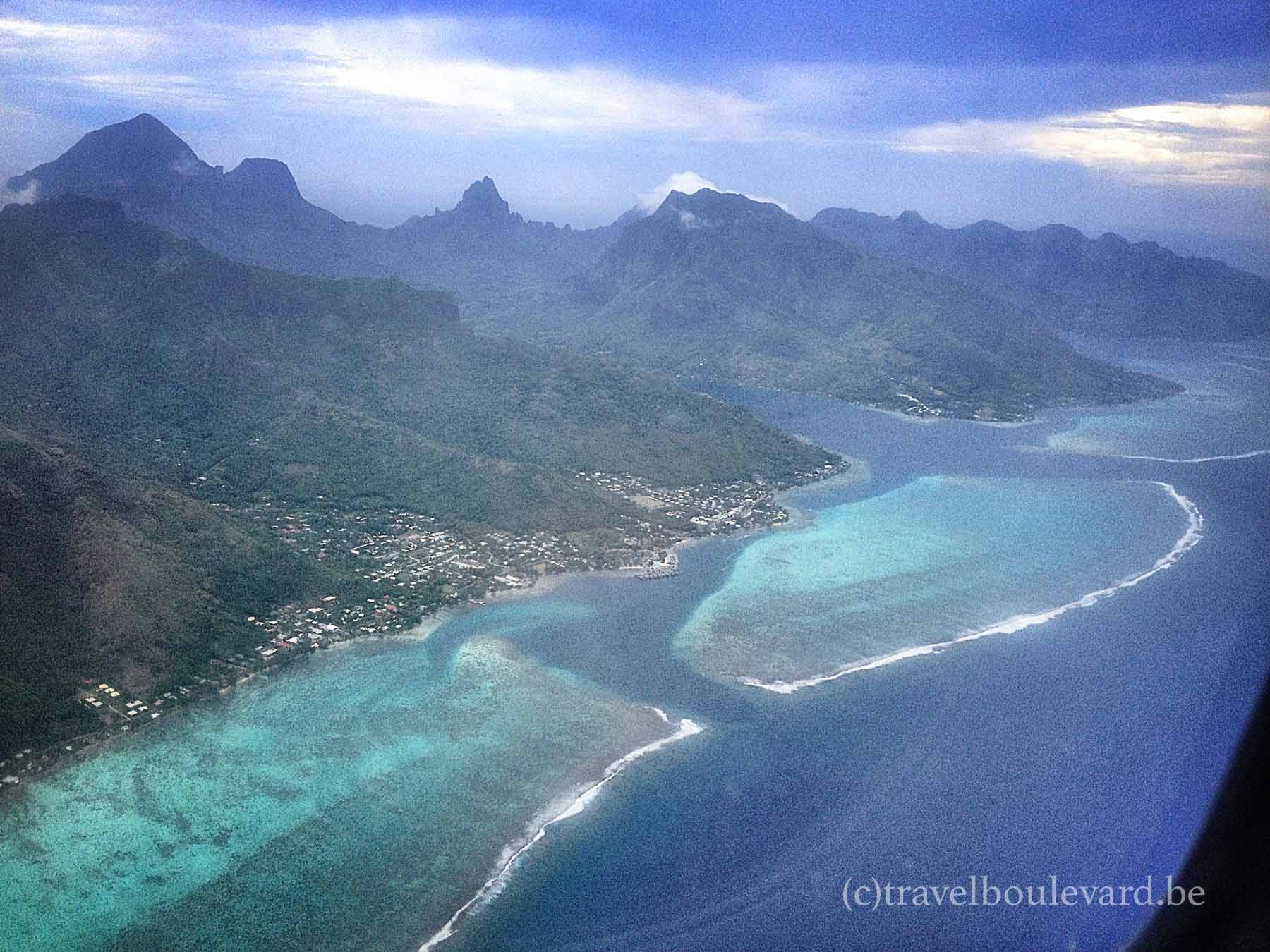 tahiti from the sky