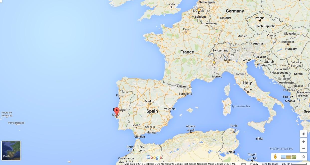 map lissabon