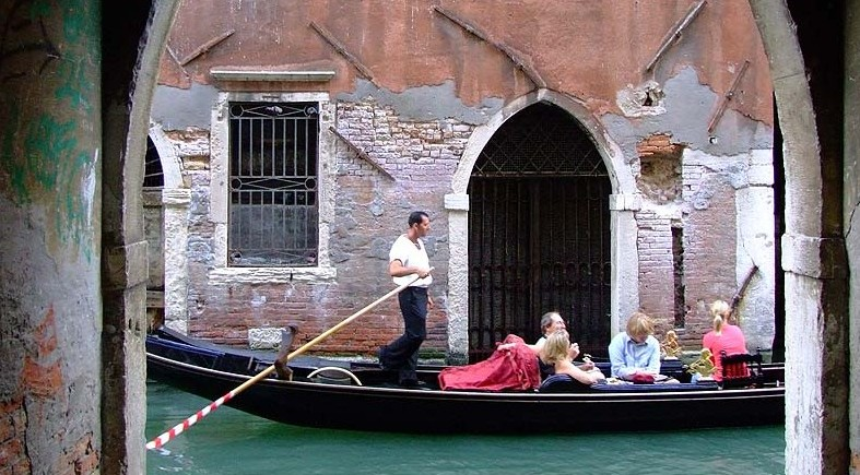Enjoy a gondola ride.