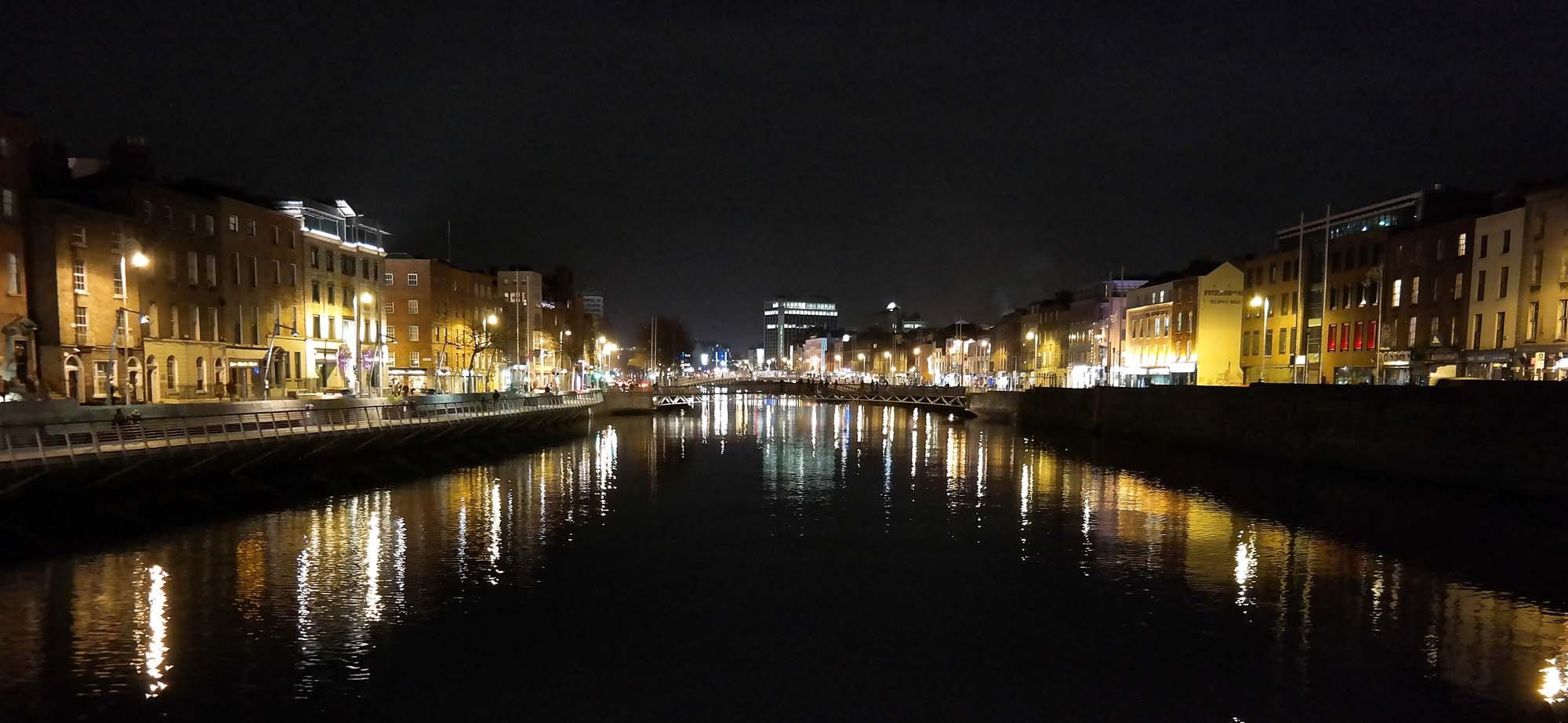 Dublin night view