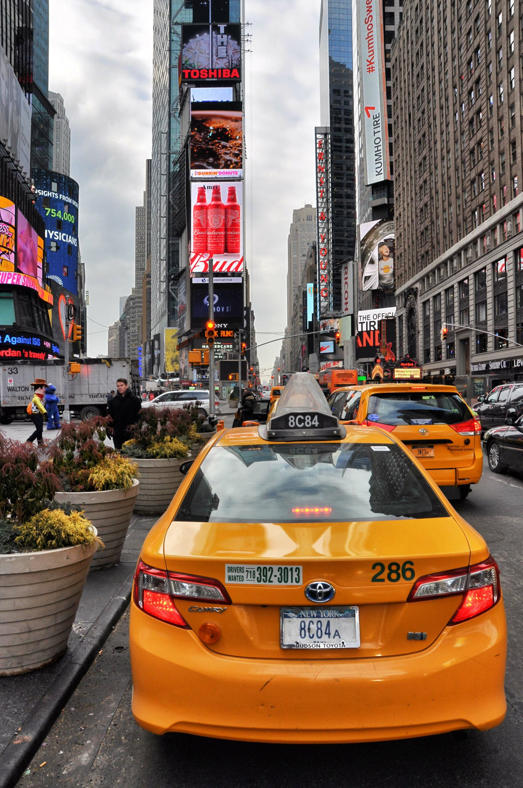 New York Times Square Yellow Cab