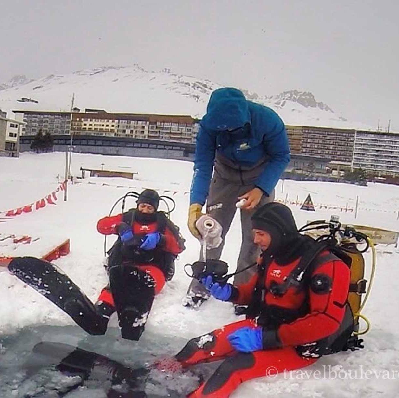 ice diving tignes